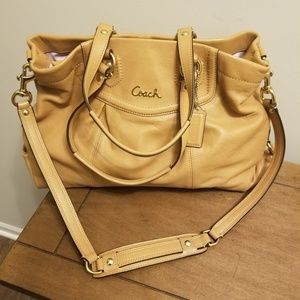 Coach tan two way purse